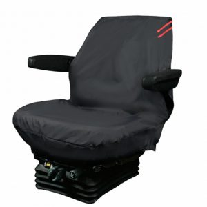 Auto Choice Large Tractor Seat Cover – Red Detailing