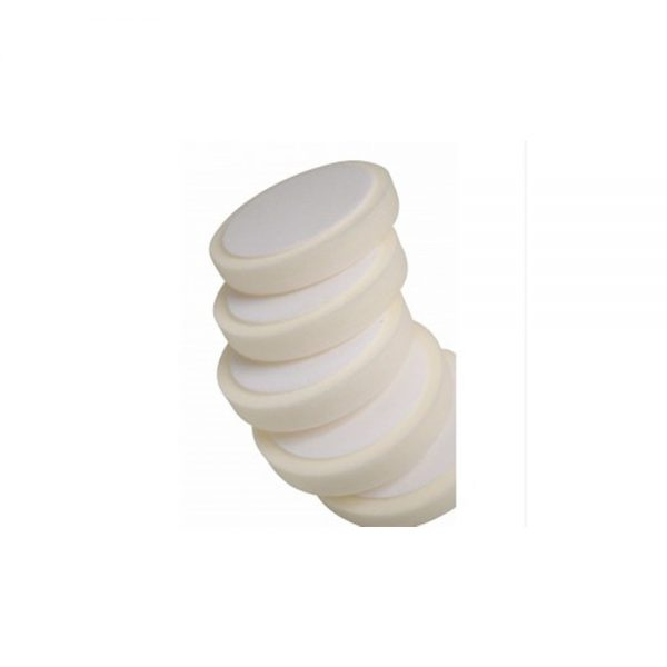 White compounding pad hook loop