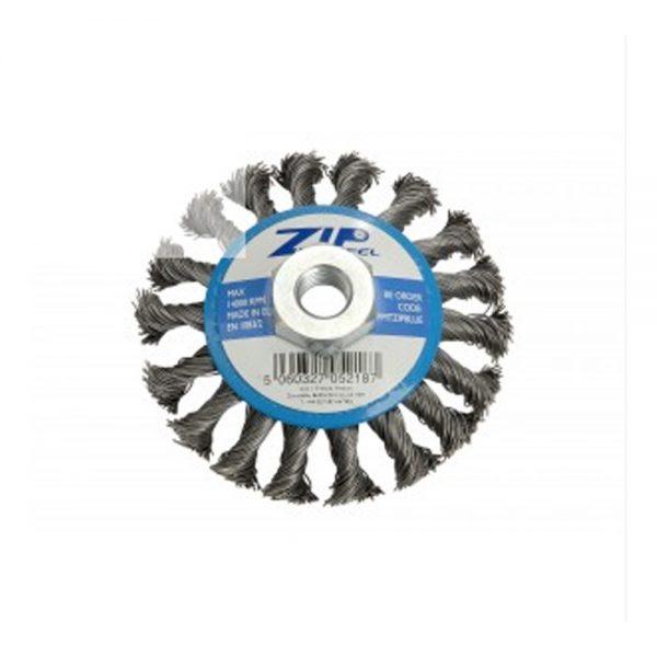 ZIP Wheel Blue Wire Brush