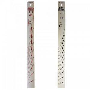 Paint Measuring Stick, Ratio 2:1 & 4:1, 1pc